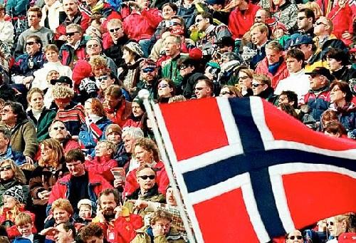 Suusapidu Holmenkollenis. Foto: Tom Kolstad/AP