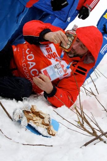 """Venemaal peab alati """"külmarohi"""" kaasas olema. Foto: Eesti Suusaliit"""