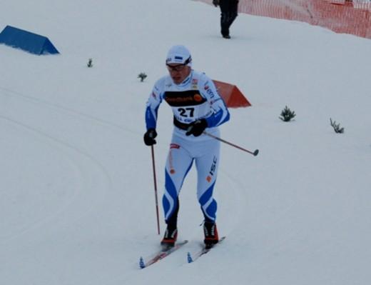 Kaspar tõusu vallutamas. Foto:Skierpost.com