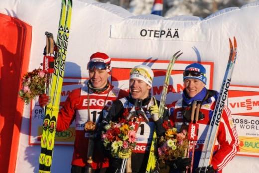 Ka Otepää MK-l hõivasid poodiumi Norra,Rootsi ja Venemaa. Foto:Skierpost.com