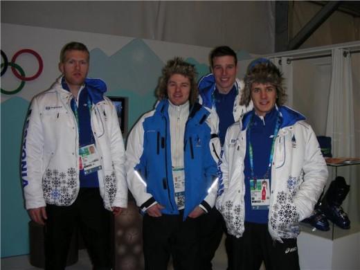Eesti sprindikoondis Olümpial.