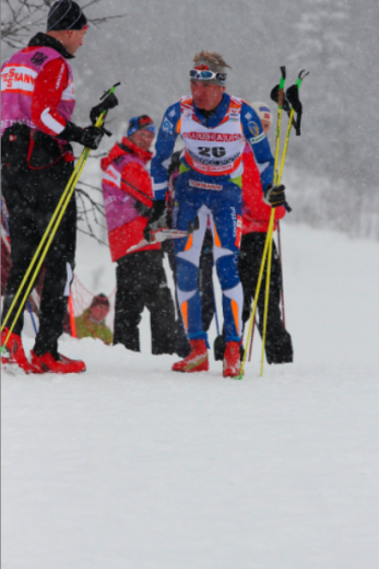 Ville Nousiainen katkestamas Libereci 15km klassika sõitu, Foto: Eesti Suusaliit