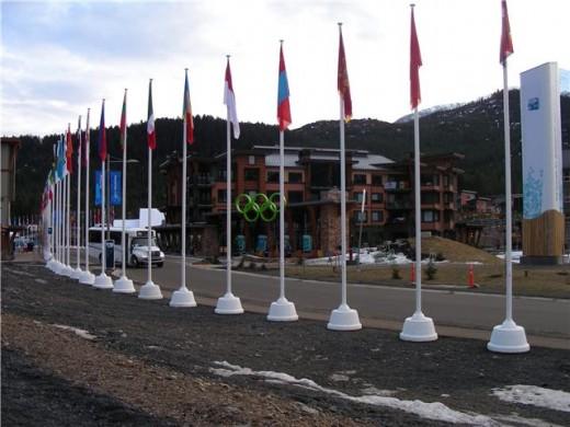 Suvised tingimused olümpiakülas.